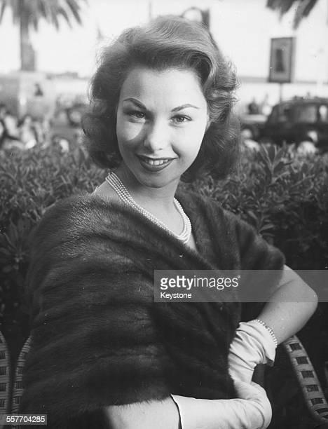 Portrait of actress Nadine Tallier, wife of Baron Edmond de Rothschild, circa 1965.
