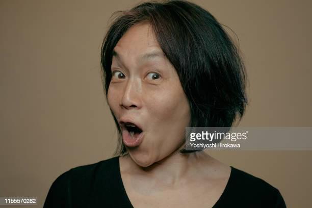portrait of actress - サプライズ ストックフォトと画像