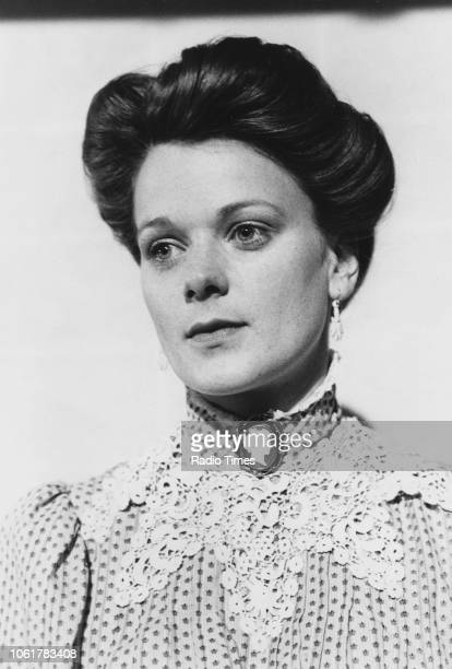 Portrait of actress Samantha Bond photographed for Radio Times in connection with episode 2 of the television series 'The Ginger Tree' July 13th 1989