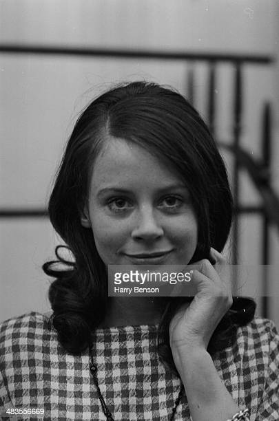 Portrait of actress Sarah Miles in a gingham dress November 14th 1963