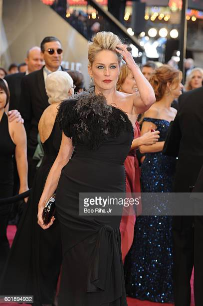 Portrait of actress Sharon Stone as she poses at the Kodak Theater during the 83rd Academy Awards Hollywood California February 27 2011