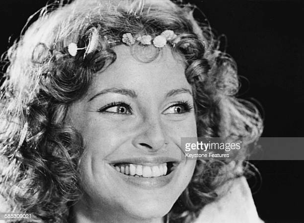 Portrait of actress Sydne Rome as she appears in the film 'Embraces and Other Things', 1975.