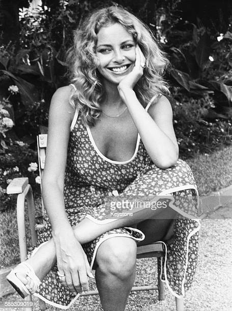 Portrait of actress Sydne Rome on the set of the film 'Stop Calling Me Baby' in Nice circa 1976