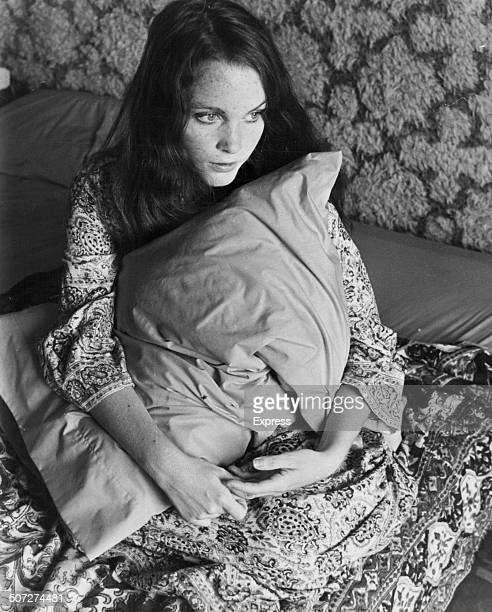 Portrait of actress Tisa Farrow, twin sister of Mia Farrow, in bed, September 2nd 1969.