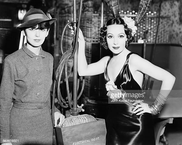 Portrait of actresses Sally Martin and Dolores del Rio 1936