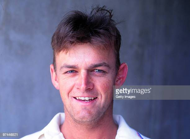 A portrait of Adam Gilchrist of Australia