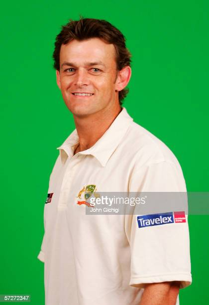 Portrait of Adam Gilchrist of Australia taken during a photocall at the Royal Gardens Hotel on July 18 2005 in London England
