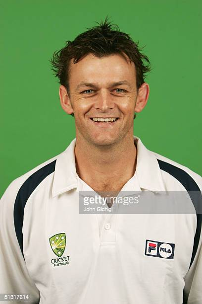 A portrait of Adam Gilchrist of Australia taken during an ICC photocall at the Royal Garden Hotel on September 5 2004 in London