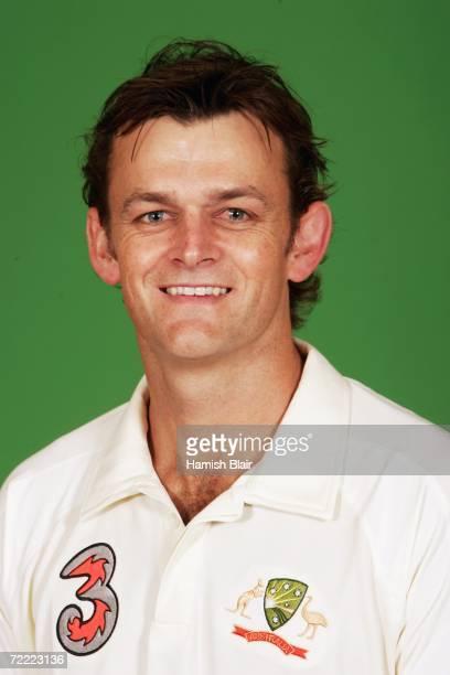 A portrait of Adam Gilchrist of Australia taken during the Australian cricket team training camp on August30 2006 at the Hyatt Regency at Coolum...