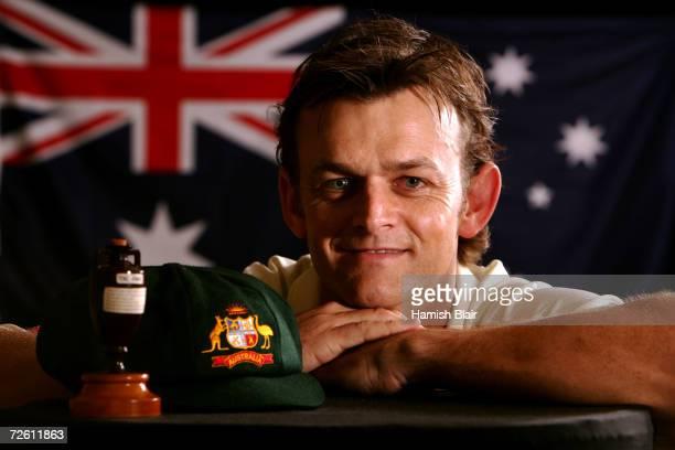 A portrait of Adam Gilchrist of Australia taken during the Australian cricket team portrait session on August 30 2006 at the Hyatt Regency at Coolum...