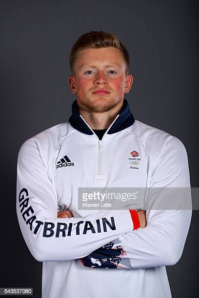 A portrait of Adam Peaty a member of the Great Britain Olympic team during the Team GB Kitting Out ahead of Rio 2016 Olympic Games on June 29 2016 in...