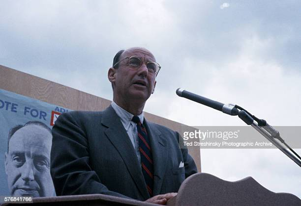 Portrait of Adlai Stevenson at Podium