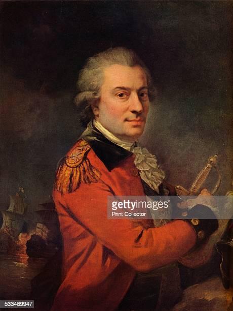 Portrait of Admiral De Suffren 18th century Admiral comte Pierre Andre de Suffren de Saint Tropez bailli de Suffren French admiral From The...