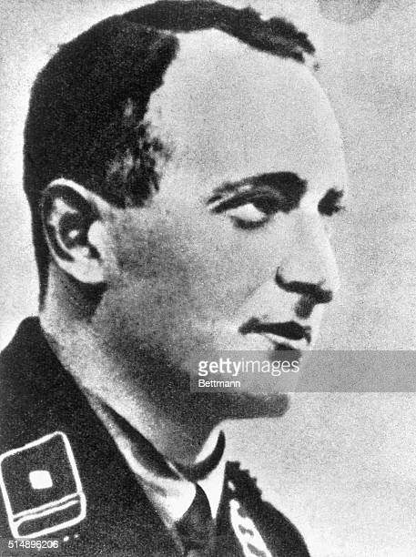 Portrait of Adolf Eichmann World War II Nazi annihilist died ca 1964 Undated photograph