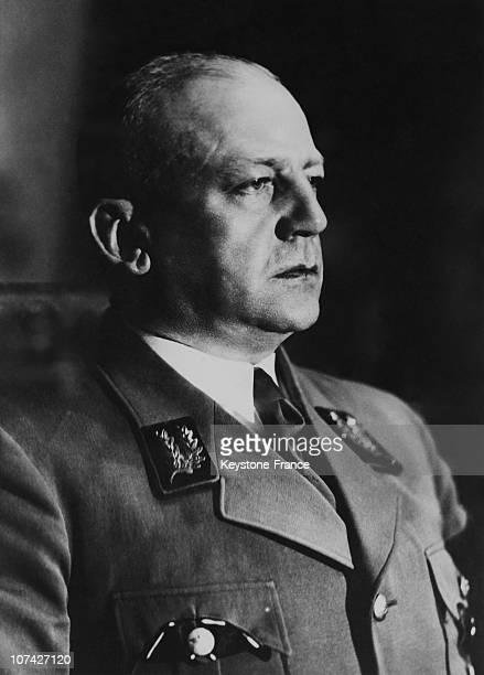 Portrait Of Adolf Wagner A Collaborator Of Hitler In Germany On April 18Th 1944