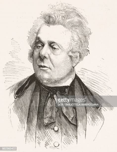 Portrait of Adolphe Cremieux French politician engraving from L'Illustrazione Italiana No 9 February 29 1880