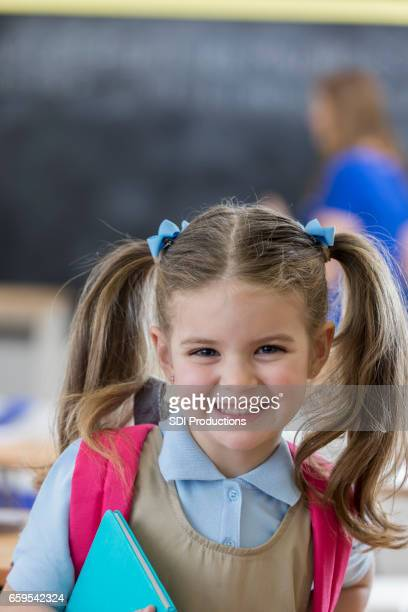Portrait of adorable kindergarten student