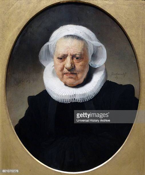 Portrait of Aechje Claesdr mother of Dirck Janszoon by Rembrandt Harmenszoon van Rijn a Dutch painter and etcher Dated 17th Century