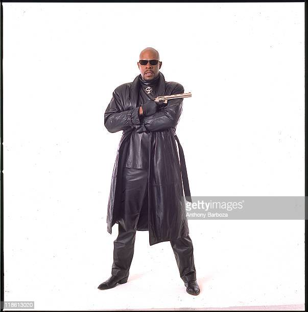 Portrait of African American actor Avery Brooks dressed for the role of Hawk a streetwise partner to Spenser the hero of Robert B Parker's Spenser...