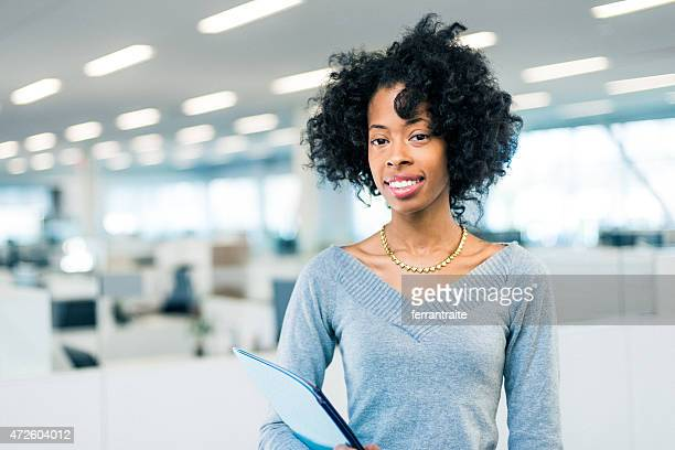 Portrait of African American Business Woman in modern office