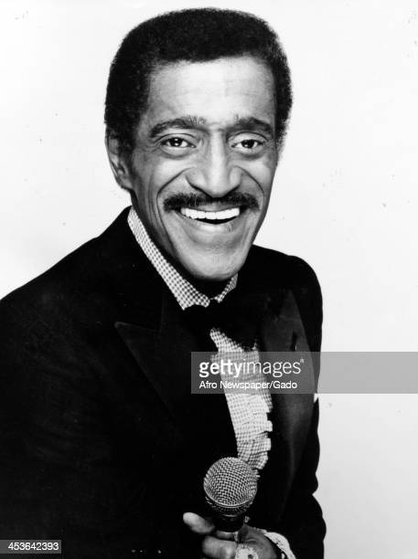 Portrait of African American entertainer Sammy Davis Junior 1970