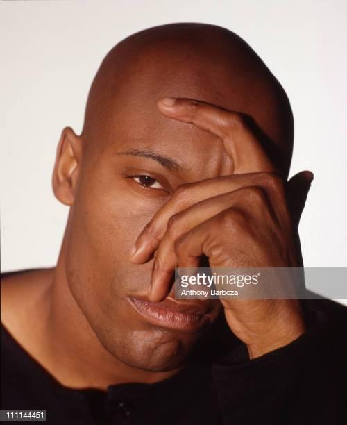 Portrait of African American film director John Singleton taken in Los Angeles California 1994