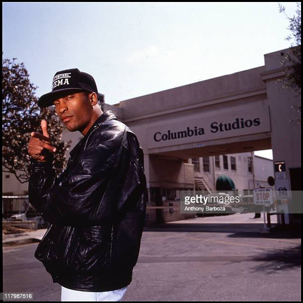 Portrait of African American film director John Singleton taken on the Columbia Studios lot in Los Angeles California 1994