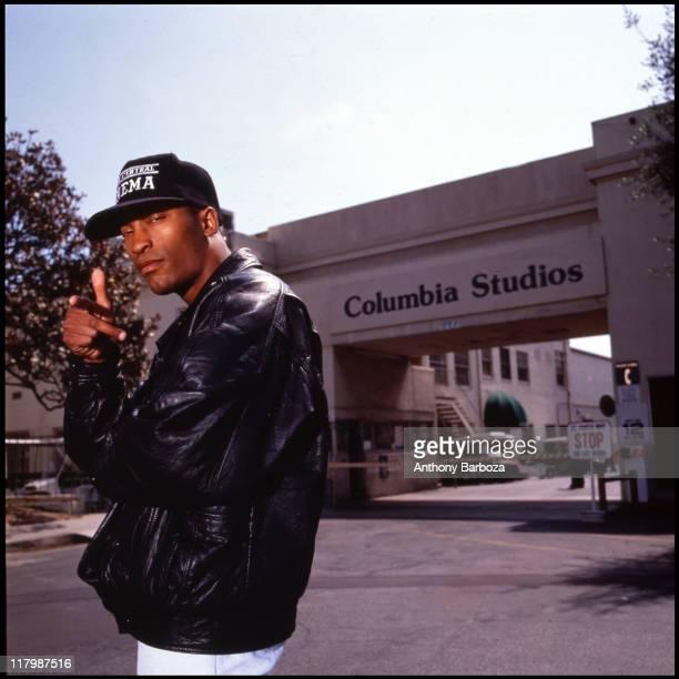 Portrait of African American film director John Singleton taken on the Columbia Studios lot in Los Angeles California 1994