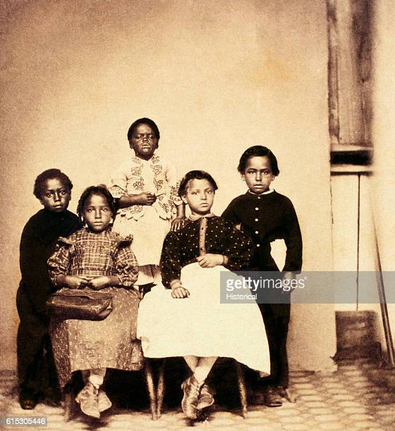 Portrait of African American school children in New Bern North Carolina ca 18621863