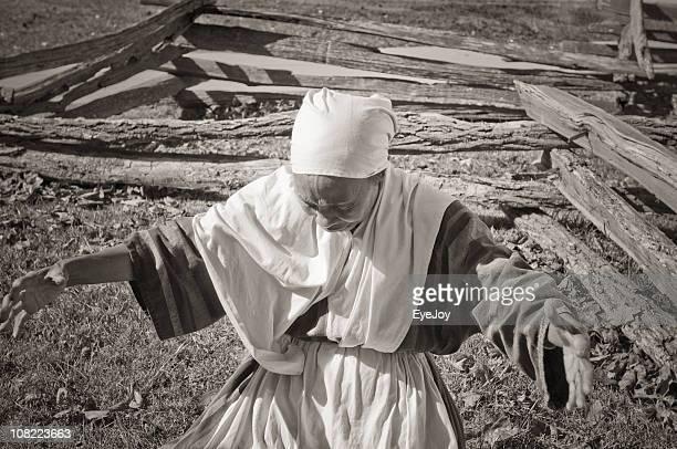 Portrait of African American Slave Re-enactment