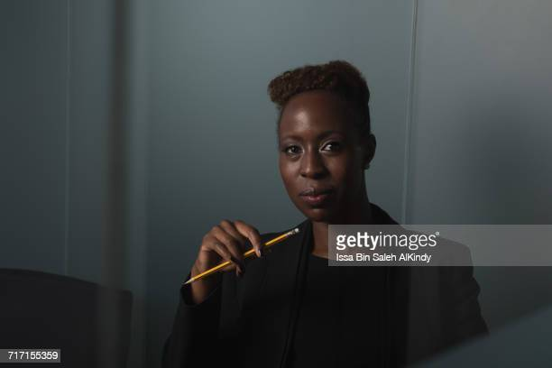 Portrait of African businesswoman sitting in office