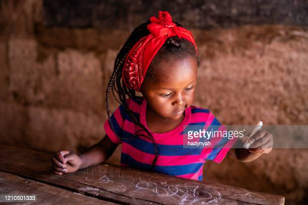 portrait of african little girl, orphanage in kenya, east africa - africa stock pictures, royalty-free photos & images