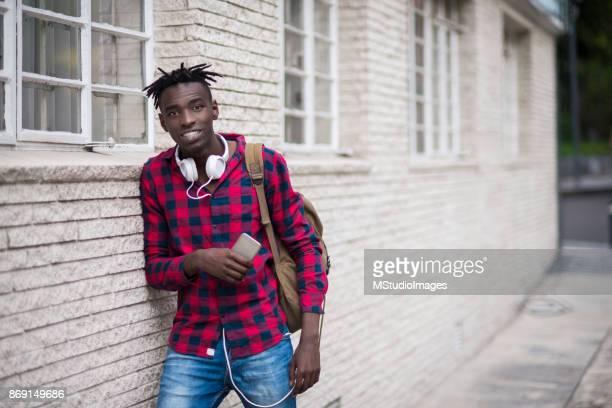 Portrait of African teenager.