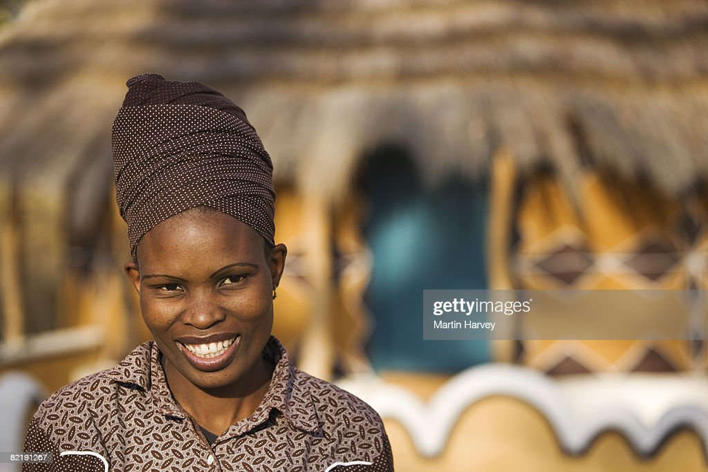 Portrait of African woman. : Stock Photo