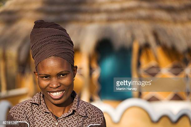 portrait of african woman. - botswana stock pictures, royalty-free photos & images