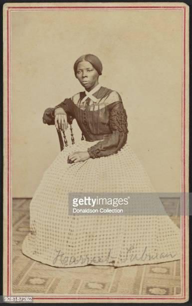 Portrait of African-American abolitionist, Harriet Tubman , New York 1878. Powelson Photographer at 77 Genessee St. Auburn, NY, 1868.