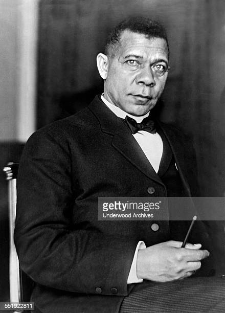 A portrait of AfricanAmerican educator author and orator Booker T Washington Washington DC June 17 1908