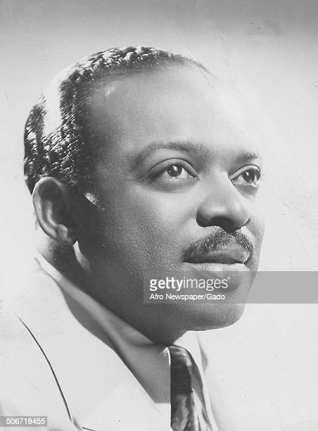 Portrait of AfricanAmerican jazz musician Count Basie August 31 1957