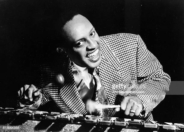 Portrait of AfricanAmerican jazz vibraphonist pianist percussionist bandleader and actor Lionel Hampton February 8 1947