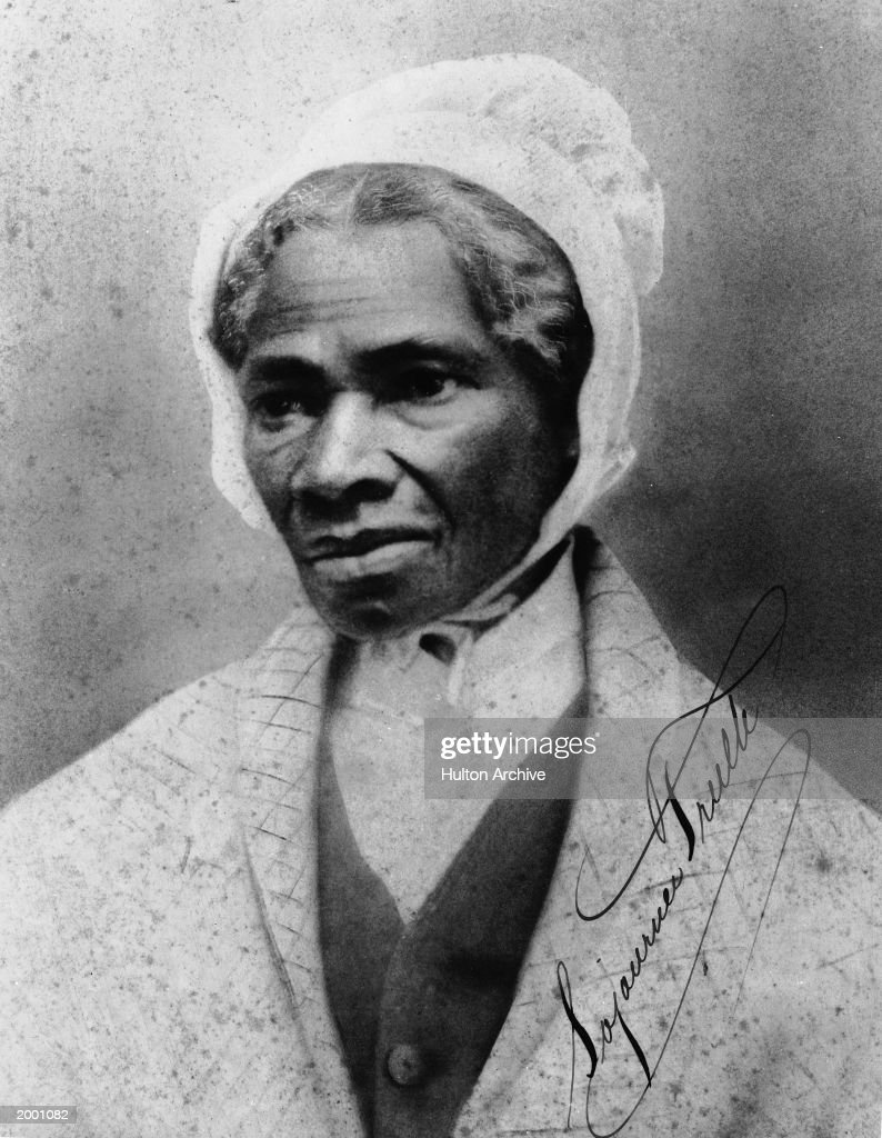 Portrait of African-American orator and civil rights activist Sojourner Truth (1797 - 1883), 1860s.