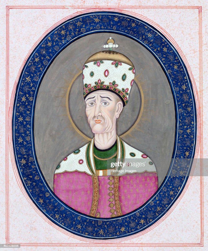 Portrait Of Agha Mohammad Khan Qajar (1742-1797) Shah Of Persia C 1840 : News Photo