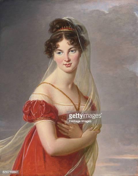 Portrait of Aglae Angelique Gabrielle de Gramont , wife of General Alexander Lvovich Davydov . Private Collection.