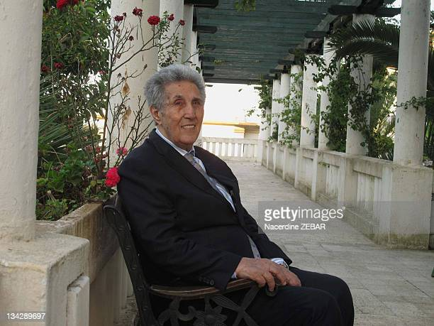 Portrait of Ahmed Ben Bella first president of Algeria during a photocall held on June 9 2011 in Alger in Algeria