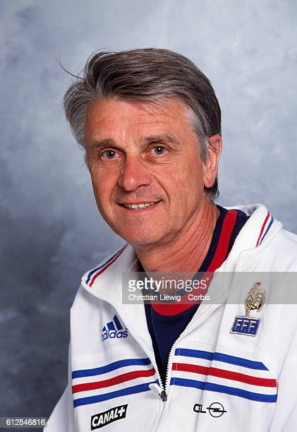 Portrait of Aime Jacquet coach of the French national soccer team He won the 1998 World Cup in France