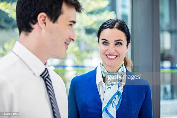 Portrait of air stewardess at airport