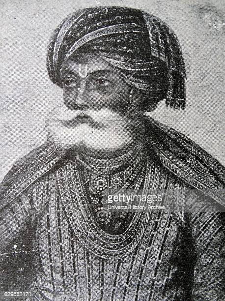 Portrait of Akbar the Great Mughal Emperor Dated 17th Century