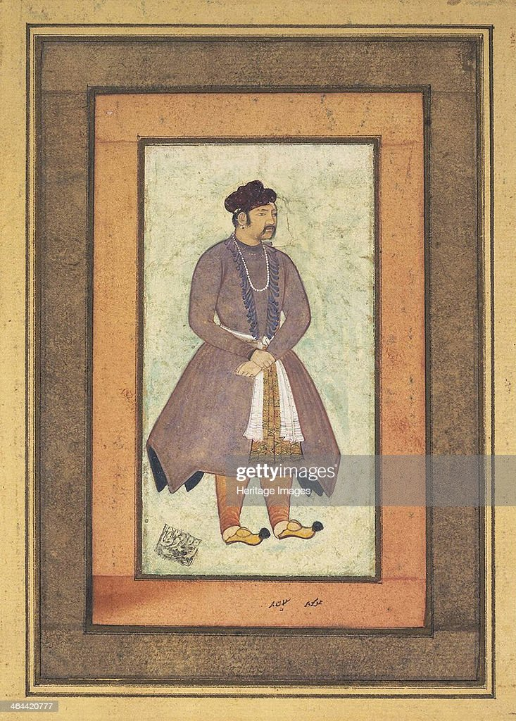 Portrait of Akbar the Great (1542-1605), Mughal Emperor, second half of the 16th century. : News Photo