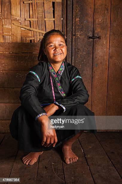 Porträt von Akha Frau im Norden von Laos
