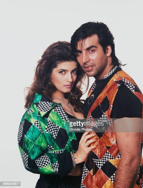 1996 Portrait of Akshay Kumar and Twinkle Khanna