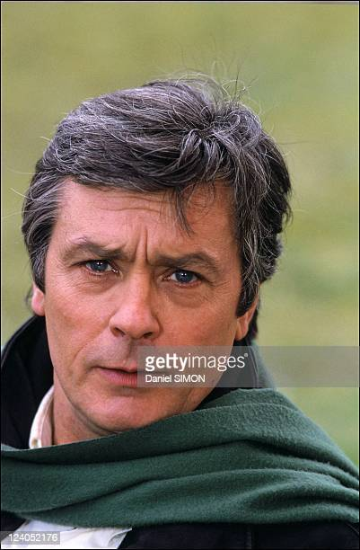 Portrait of Alain Delon in France on March 30 1988